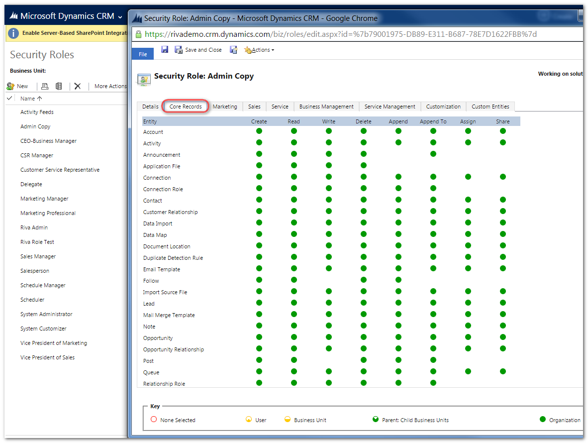 how to change search settings in crm dynamics