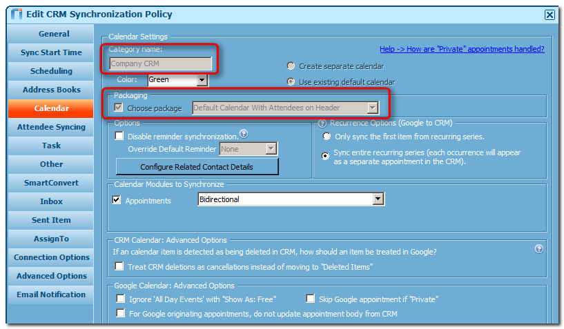 Create & Configure a Sync Policy for Google's G Suite