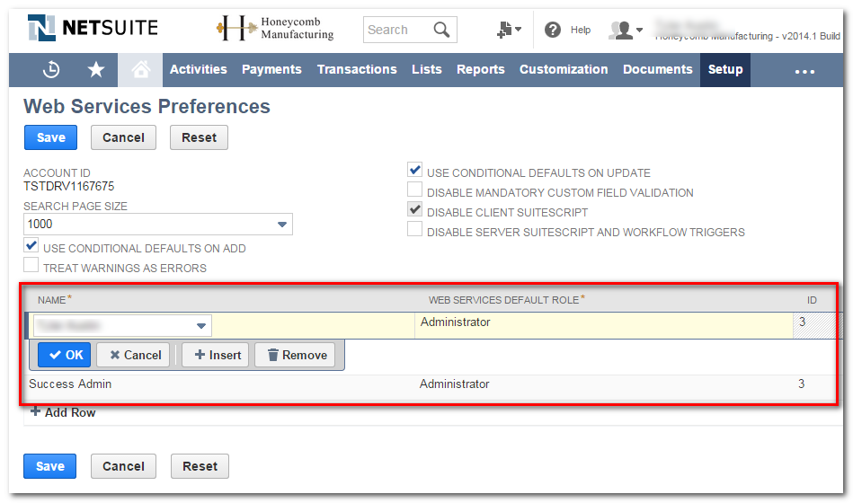 NetSuite: Insufficient permissions for the NetSuite