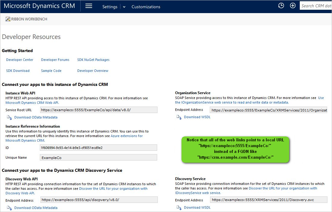 Resolve Service Endpoint Mismatch Issue for Dynamics CRM