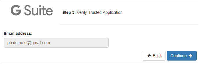 Riva Cloud. Google. Step 3: Verify Trusted Application.