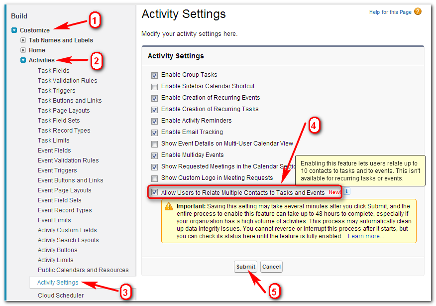salesforce enable the shared activities features documentationsalesforce enable the shared activities features